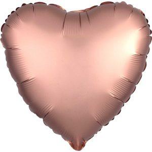 Foliopallo sydän ruusukulta