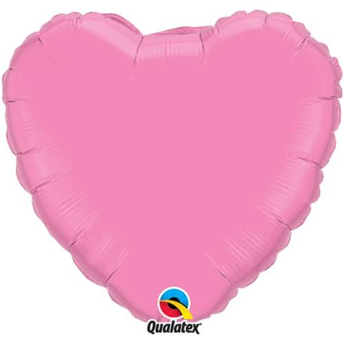 Haalea pinkki sydämenmuotoinen foliopallo