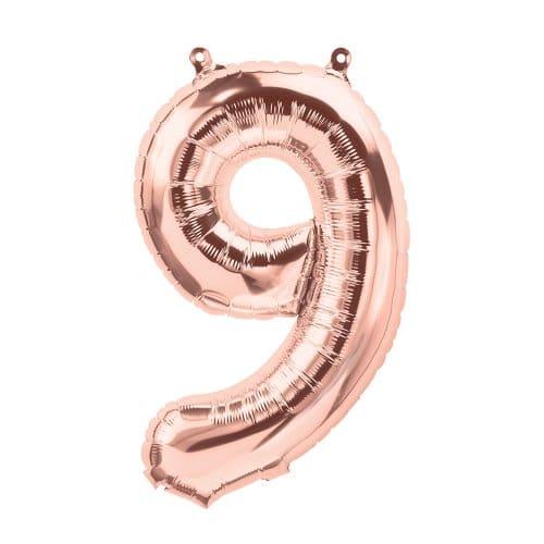 Ilmatäytteinen numerofoliopallo 9