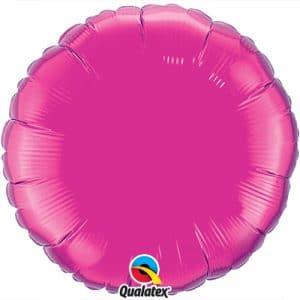 Pinkki pyöreä foliopallo
