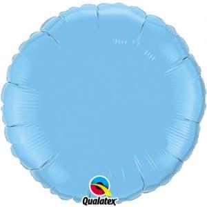 Vaaleansininen pyöreä foliopallo