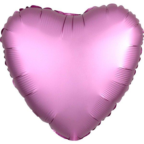 Foliopallo sydän satiinipinkki