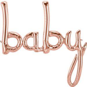 Ruusukultainen baby ilmafoliopallo