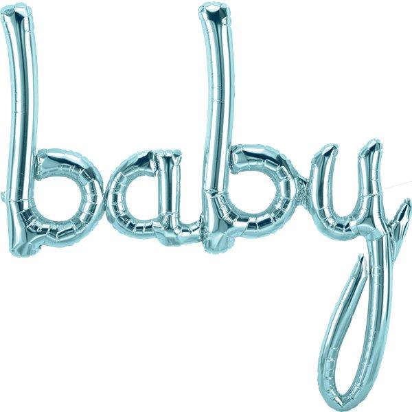 Vaaleansininen baby ilmafoliopallo