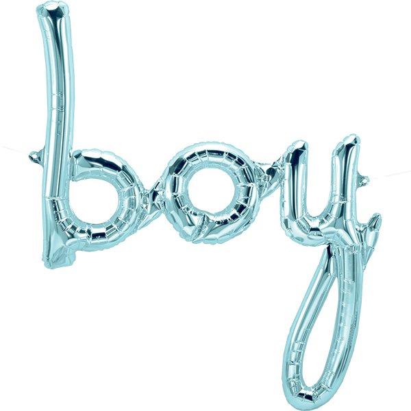 Vaaleansininen boy ilmafoliopallo