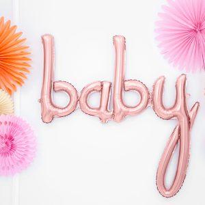 baby ruusukultainen foliopallo