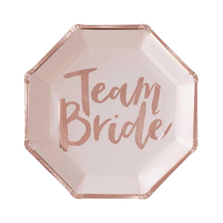 Team Bride pahvilautaset