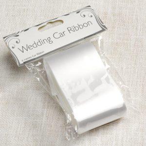 Auton koristelunauha valkoinen