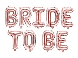 Bride to be ruusukultaiset foliokirjaimet