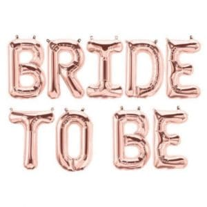 Bride to be ruusukultaiset foliopallot