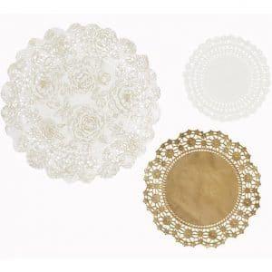 Kulta valkoiset kakkupaperit
