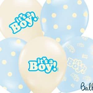It's a boy vaaleansiniset ilmapallot