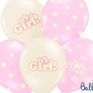 Its a girl pinkki beige ilmapallot