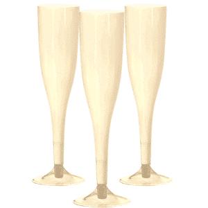 Norsunluun väriset shampanjalasit