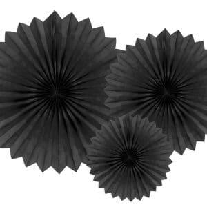Paperiviuhkat musta