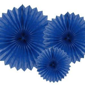 Paperiviuhkat sininen