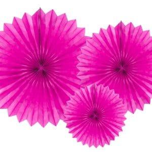 Paperiviuhkat tumma pinkki