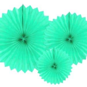 Paperiviuhkat vaalea minttu