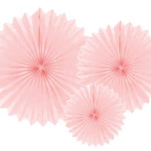 Paperiviuhkat vaaleanpunainen