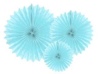 Paperiviuhkat vaaleansininen