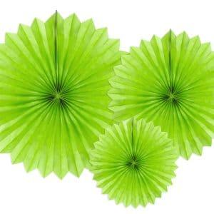Paperiviuhkat vaaleanvihreä