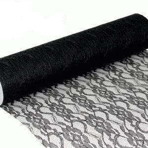 Pitsikaitaliina musta 10 m
