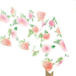 Floral Baby Girl pöytäliina