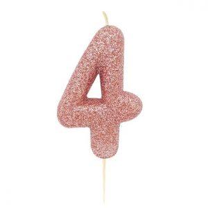 Ruusukultainen kakkukynttilä 4