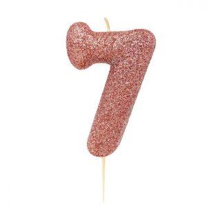 Ruusukultainen kakkukynttilä 7