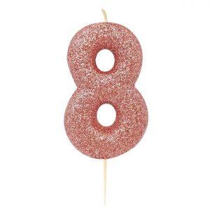 Ruusukultainen kakkukynttilä 8