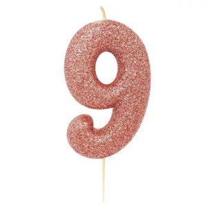 Ruusukultainen kakkukynttilä 9