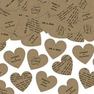 Sydänkonfetti kartonkia