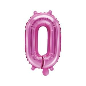 Ilmatäytteinen foliopallo pinkki 0