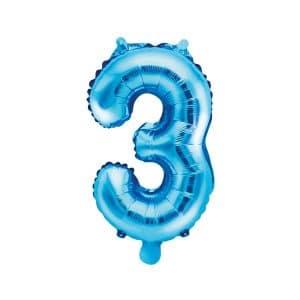 Ilmatäytteinen foliopallo sininen 3