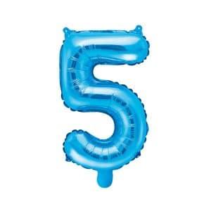 Ilmatäytteinen foliopallo sininen 5