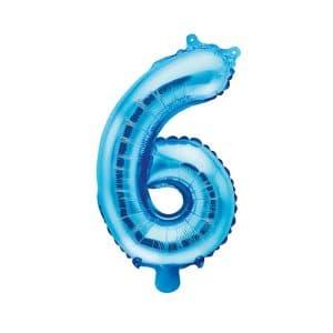 Ilmatäytteinen foliopallo sininen 6