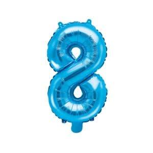 Ilmatäytteinen foliopallo sininen 8