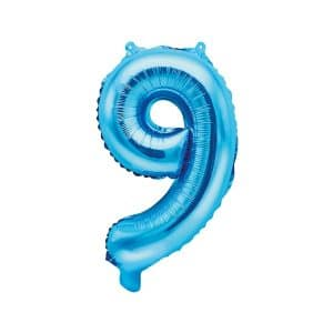 Ilmatäytteinen foliopallo sininen 9