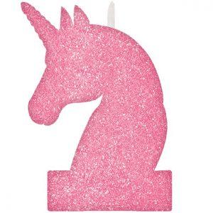 Kakkukynttilä pinkki yksisarvinen