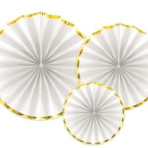 paperiviuhkat kulta valkoinen mix