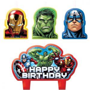 Marvel Avengers kakkukynttilät