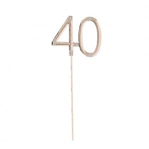 40-vuotiskakkukoriste, ruusukulta