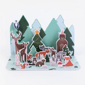 Joulukalenteri metsän eläimet