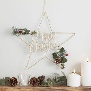 Merry Christmas puutähti