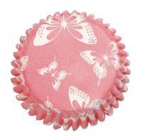 Muffinivuoat pinkki perhonen