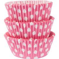 Pinkkivalkoiset muffinivuoat