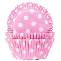 Polka dot vaaleanpunaiset muffinivuoat
