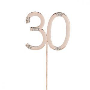 Ruusukultainen kakkukoriste 30-vuotiaalle