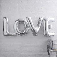 Iso LOVE foliopallo hopea