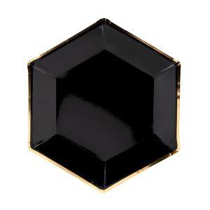 Mustat lautaset kultareunalla